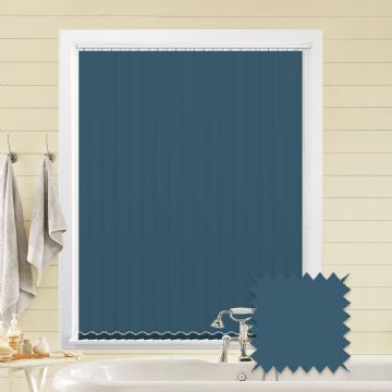 Navy Blue vertical blinds - Made to Measure vertical blind in Splash Sapphire